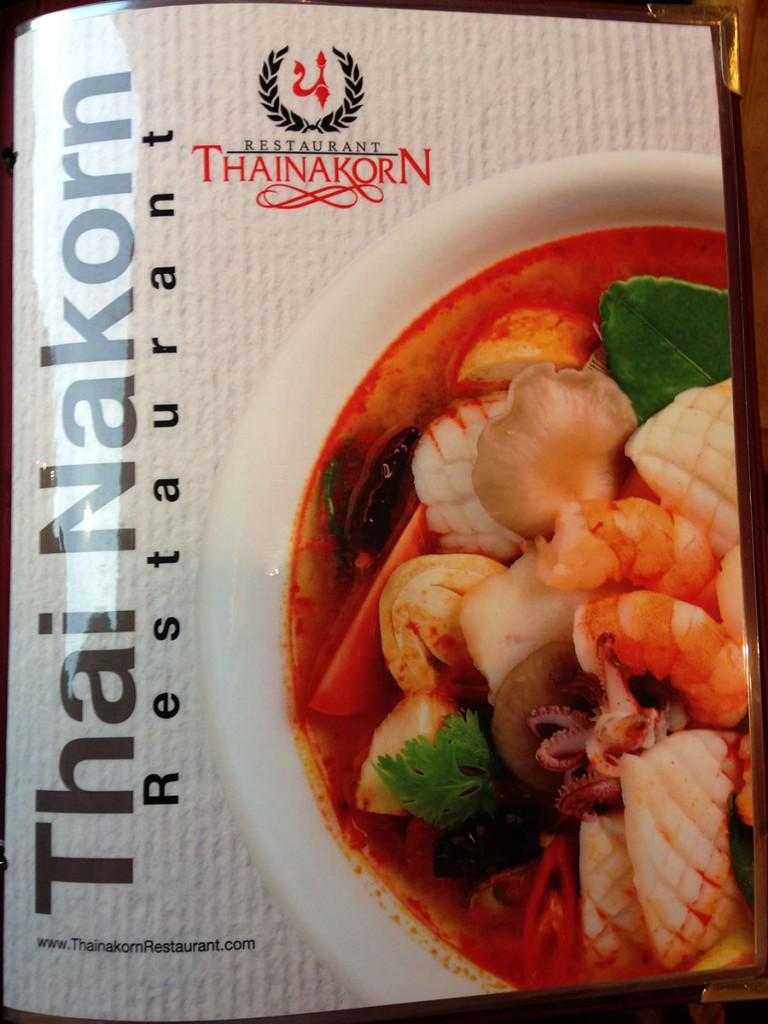 Thai Nakorn Menu